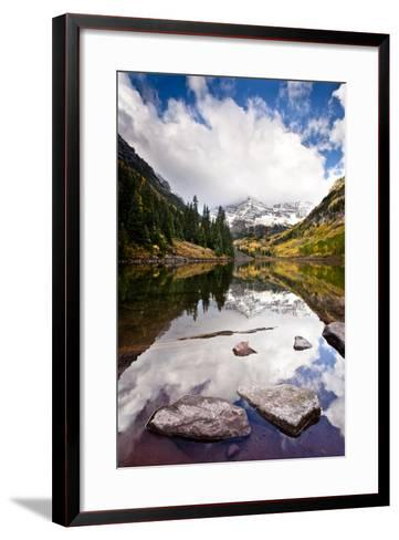Mountain Lake Reflection with Fall Color's. Aspen, Colorado.-Dan Ballard-Framed Art Print