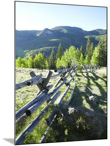 Wooden Fenceline-John P Kelly-Mounted Photographic Print