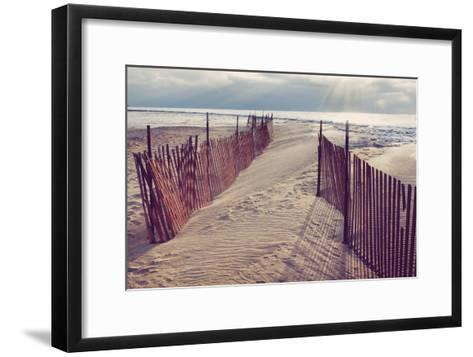 Lake Michigan Beach-Trina Dopp Photography-Framed Art Print