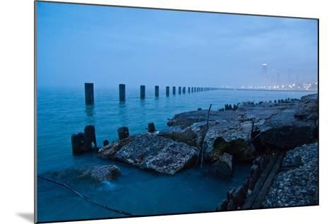 Foggy View of Chicago from Lakeshore-Megan Ahrens-Mounted Photographic Print