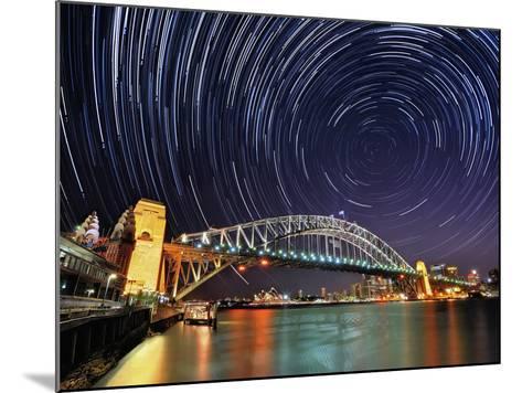 Star-Trail over Sydney-AtomicZen-Mounted Photographic Print