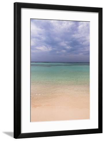 Scenic of Water and Beach, Baby Beach, Aruba, Lesser Antilles, Caribbean-Alberto Biscaro-Framed Art Print