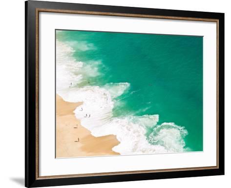 Aerial View of Beach-David Lopes-Framed Art Print