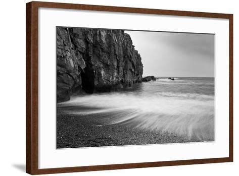 Waves Breaking on Black Sand Beach-Arctic-Images-Framed Art Print