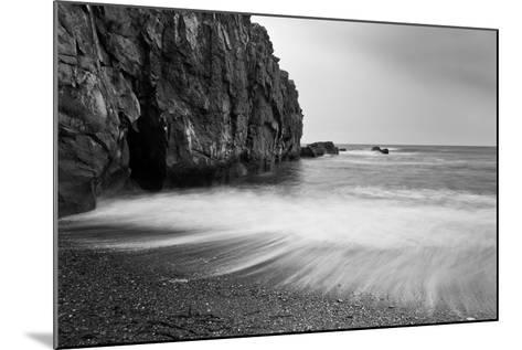 Waves Breaking on Black Sand Beach-Arctic-Images-Mounted Photographic Print