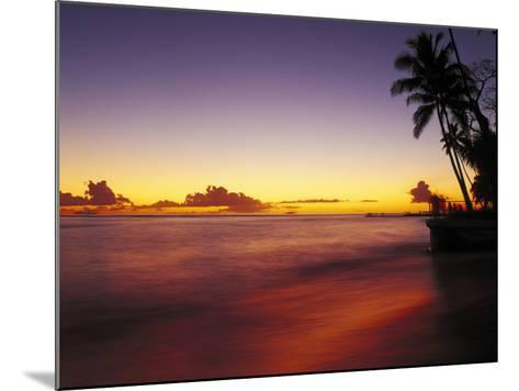 Sunset at Oahu-Brian Lawrence-Mounted Photographic Print