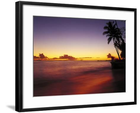 Sunset at Oahu-Brian Lawrence-Framed Art Print