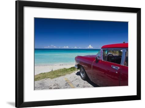 Cuba, Matanzas Province, Varadero, Varadero Beach-Walter Bibikow-Framed Art Print