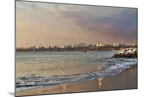 View of the Sea and the Coast, Lima, Peru-LatinContent - Ecaterina Leonte-Mounted Photographic Print