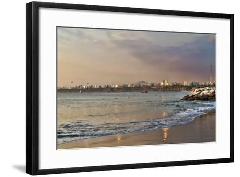 View of the Sea and the Coast, Lima, Peru-LatinContent - Ecaterina Leonte-Framed Art Print