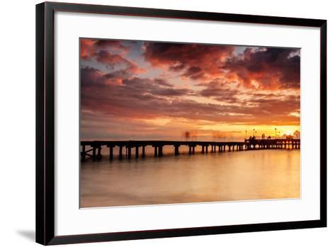 Sunset at Akkarena-Abdul Azis-Framed Art Print