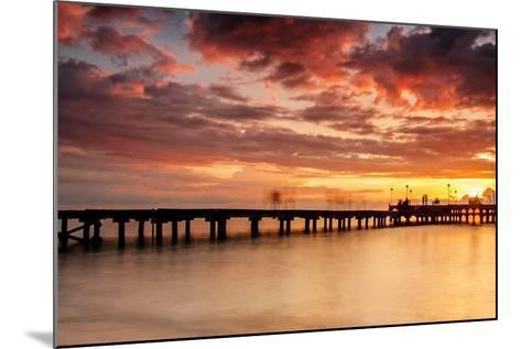 Sunset at Akkarena-Abdul Azis-Mounted Photographic Print