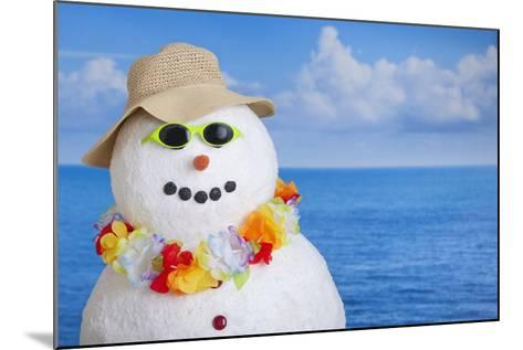 Snowman at Sea-Tetra Images-Mounted Photographic Print