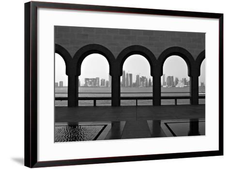 Doha Skyline from Museum-Gregory T. Smith-Framed Art Print