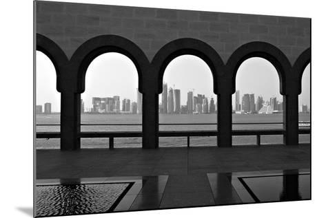 Doha Skyline from Museum-Gregory T. Smith-Mounted Photographic Print