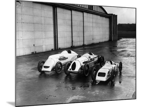 Record Bid Cars-E. Bacon-Mounted Photographic Print