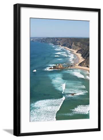 Portugal, Algarve, Sagres, View of Atlantic Ocean with Waves-Westend61-Framed Art Print
