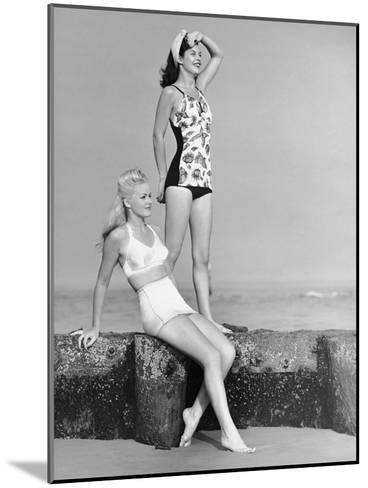 Two Women in Bathing Suits-George Marks-Mounted Photographic Print