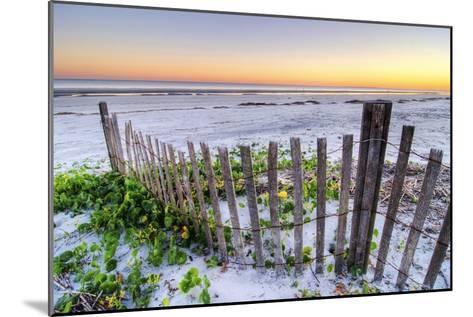 A Beach Fence at Sunset on Hilton Head Island, South Carolina.-Rachid Dahnoun-Mounted Photographic Print