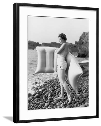 Hesitant Swimmer-Chaloner Woods-Framed Art Print