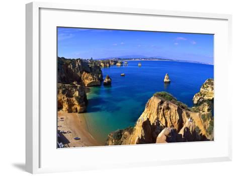 Praia Da Dona Ana, Algarve, Portugal-Hans Peter Merten-Framed Art Print
