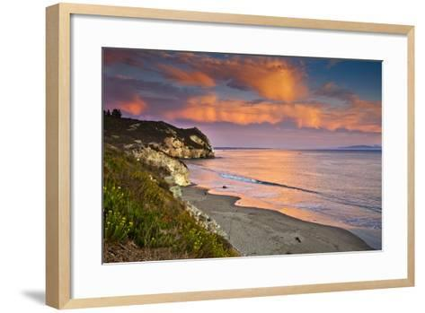 Avila Beach at Sunset-Mimi Ditchie Photography-Framed Art Print
