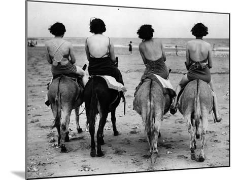 Donkey Back Rides-Hulton Archive-Mounted Photographic Print