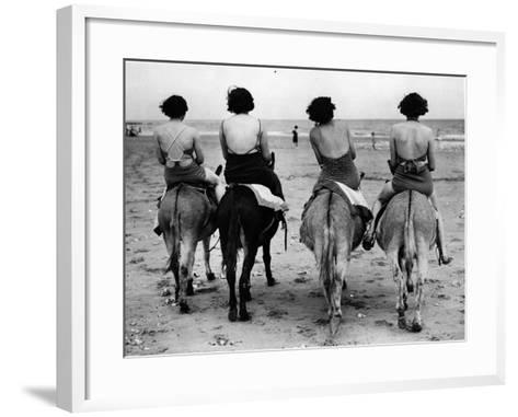 Donkey Back Rides-Hulton Archive-Framed Art Print