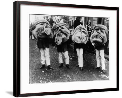 Grotesque Heads-Topical Press Agency-Framed Art Print