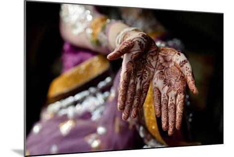 Tradition of Mehndi / Henna-Sara Farid-Mounted Photographic Print