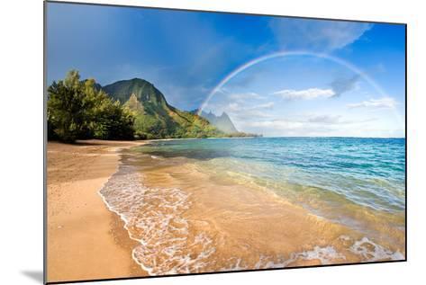 Rainbow Paradise Beach-M Swiet Productions-Mounted Photographic Print