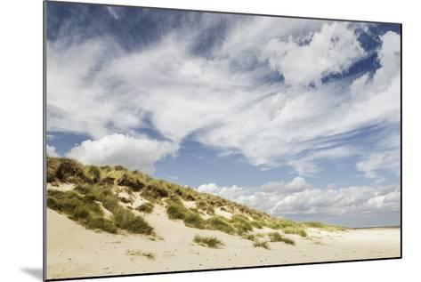 Empty Beach and Dunes with Big Cloudy Sky-Daniel Halpin Photography-Mounted Photographic Print