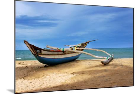 Wooden Catamaran by the Sea Shore-Juavenita Alphonsus-Mounted Photographic Print