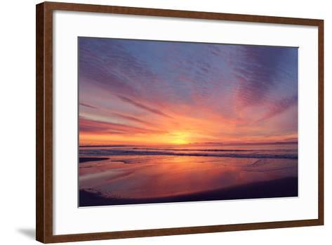 East Beach Sunrise-Zachary Turner Photography-Framed Art Print