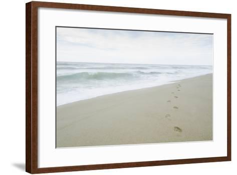Footprints on Beach, Nantucket-Nine OK-Framed Art Print