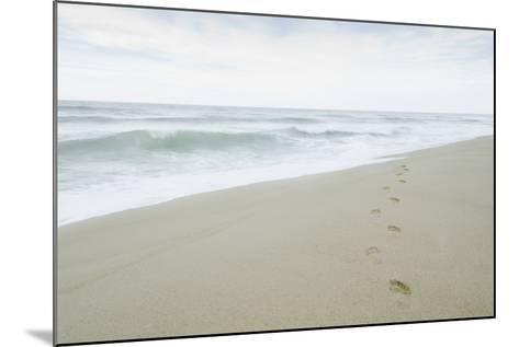 Footprints on Beach, Nantucket-Nine OK-Mounted Photographic Print