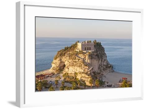 Santa Maria Del Isola Monastery, Tropea, Calabria-Peter Adams-Framed Art Print