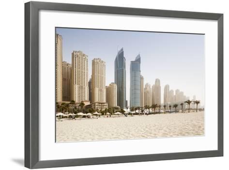 Jumeirah Beach at Sunset-Jorg Greuel-Framed Art Print