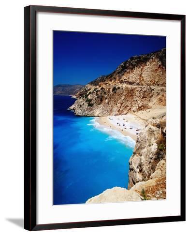 Kaputas Cove and Beach.-Izzet Keribar-Framed Art Print