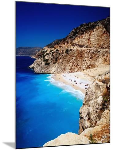 Kaputas Cove and Beach.-Izzet Keribar-Mounted Photographic Print