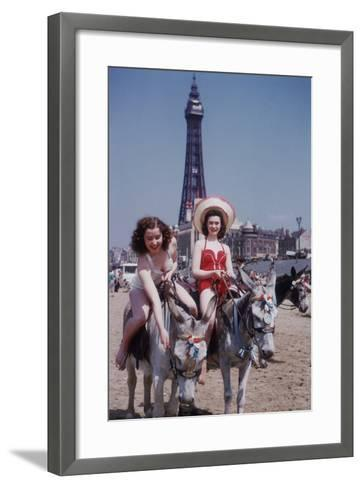 Donkey Rides at Blackpool-John Chillingworth-Framed Art Print