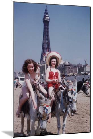 Donkey Rides at Blackpool-John Chillingworth-Mounted Photographic Print