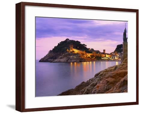 Spain, Catalonia, Costa Brava, Tossa De Mar-Shaun Egan-Framed Art Print