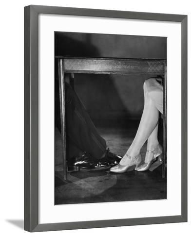 Playing Footsie-Sasha-Framed Art Print