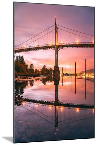 Sunrise Reflection at St. John's Bridge, Portland, Oregon PDX-Vincent James-Mounted Photographic Print