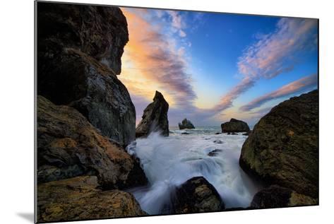Seascape Movement, Humboldt Coast, California, Patrick's Point-Vincent James-Mounted Photographic Print