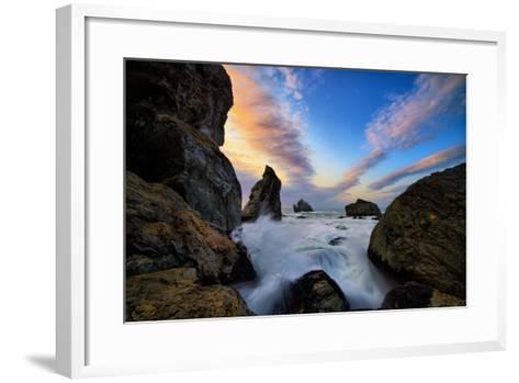 Seascape Movement, Humboldt Coast, California, Patrick's Point-Vincent James-Framed Art Print
