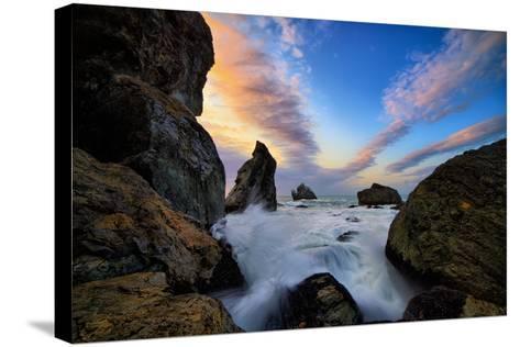 Seascape Movement, Humboldt Coast, California, Patrick's Point-Vincent James-Stretched Canvas Print