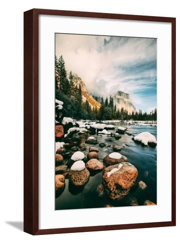 Clearing Storm at Valley View in January, Yosemite Valley, California-Vincent James-Framed Art Print