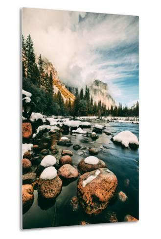 Clearing Storm at Valley View in January, Yosemite Valley, California-Vincent James-Metal Print